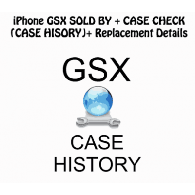 Sold By + GSX + REPLACEMENT + Case History Check iPhone Xr/Xs/Xs Max Supported