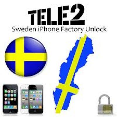 Разлочить Tele2 Sweden 3GS,4G,4S,5,6,6+ Любой Imei