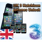 UK - 3 Hutchison iPhone 3GS,4G,4S,5,5C,5S (Only Clean IMEI)