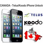 Canada - Telus & Koodo iPhone 3G ,3GS ,4,4S,5,5C,5S (Only Clean IMEI)