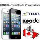 Canada - Telus & Koodo iPhone 3GS 4 4s 5 5C 5S 6 6+ 6S 6S+ 7 7+ 8 8+ X (Только Чистый IMEI )