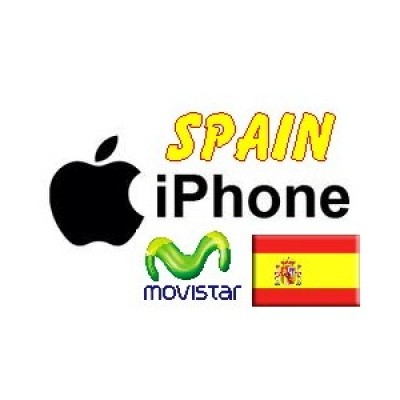 Spain - Movistar iPhone 3G, 3GS 4,4S,5,5C,5S (Clean IMEI)